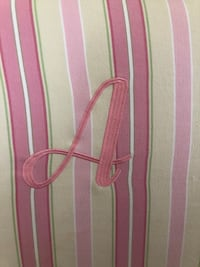 Pottery barn full size headboard with custom stitched letter A