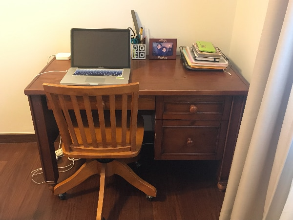 Pottery Barn Storage Desk and Chair