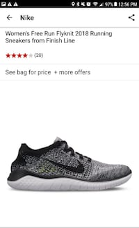 Woman's Nike Freerun Flyknit Shoe