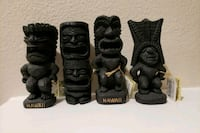 four black ceramic Hawaiian figurines Los Angeles County, 91387