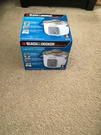 Small Black & Decker Rice Cooker Silver Spring