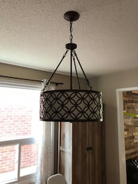 allen + roth Earling 18-in W Oil-Rubbed Bronze Pendant Light with Fabric Shade Toronto, M1V 3A9