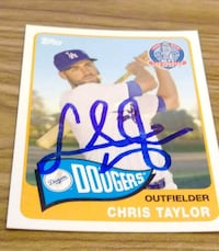 Chris taylor signed card North Las Vegas, 89030
