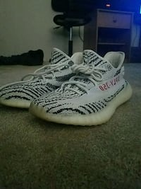 pair of Zebra Adidas Yeezy Boost 350 V2 Union City, 45390