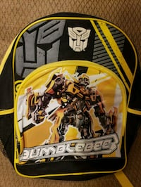 yellow and black Transformers backpack 170 mi