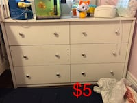 white wooden 6-drawer dresser 2263 mi