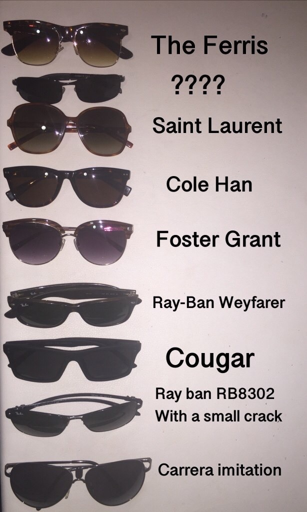 ccd5ecb224 ... new zealand kit of sunglasses ray ban cole hahn said laurent. value of  700 dollars