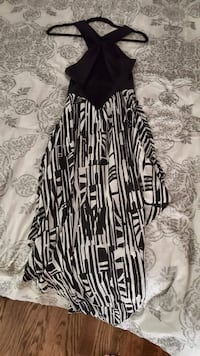 black and white spaghetti strap dress Vaughan