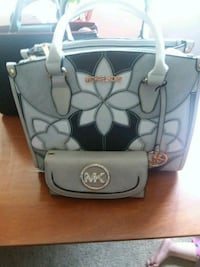 gray and white Coach leather tote bag Falls Church, 22042