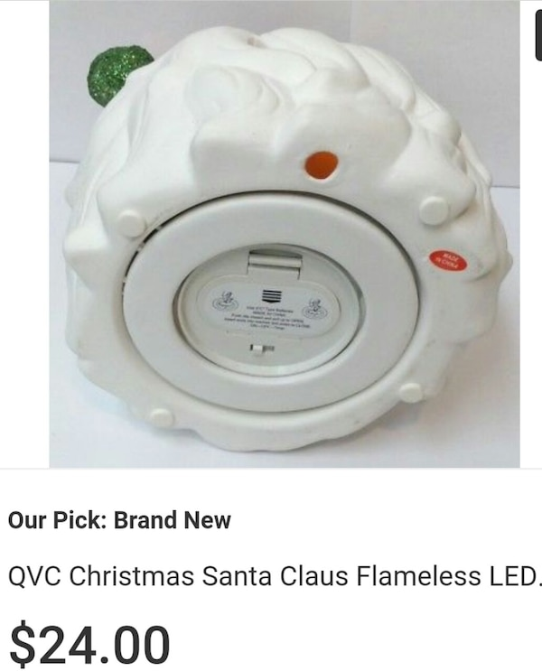 1c3fcb0ce Used QCC Christmas Luminary Santa, Flameless Candle for sale in San ...