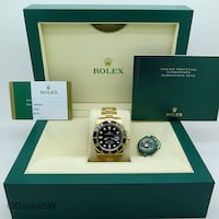 Rolex 116618LN BLACK DIAL 18K YELLOW GOLD SUBMARINER CERAMIC Washington
