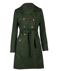 Green double-breasted trench coat St Catharines, L2T 1C5
