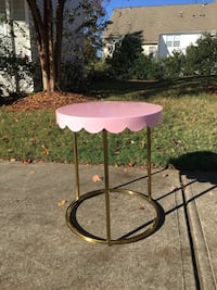 Scalloped Kids Accent Side Table Pink Gold Target Fort Mill, 29715