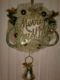 Gold sparkly Merry Christmas Wreath  Rockford, 61107