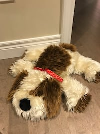 white and brown dog plush toy London, N6G