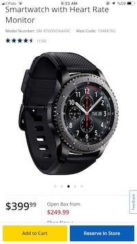 sumsong wach s3 smart with heart rate monitor Richmond Hill, L4C 8E9