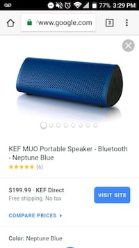 blue and black portable speaker screenshot Knoxville, 37931