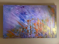 "Dream City - calgary skyline  48""x30 "" stretched canvas x 1.5"" deep profile. Pickup Edgemont nw  Calgary, T3A 4R8"