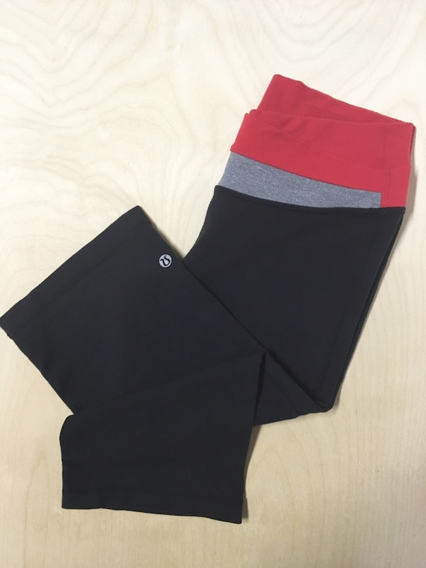 LULULEMON CROP LEGGINGS SIZE 6 WOMENS CLOTHING WORKOUT
