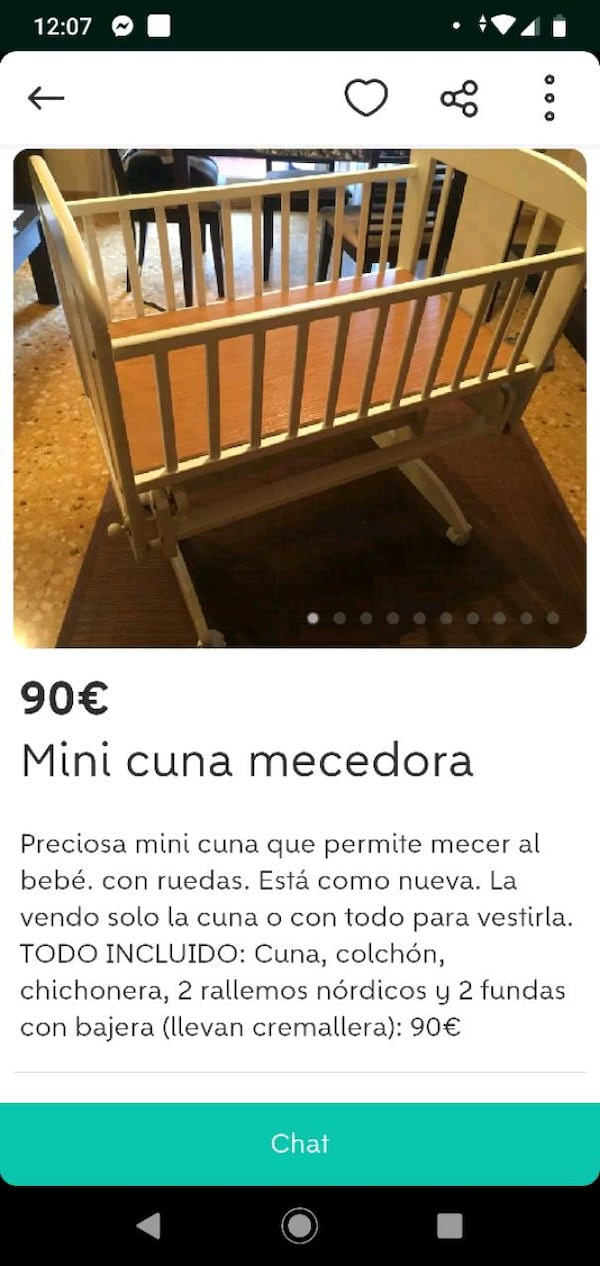 Mini cuna mecedora 0