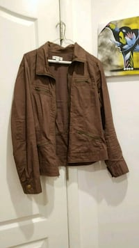 brown zip-up jacket Brooklyn, 11205
