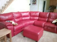 red leather sectional sofa with ottoman Adamstown, 21710