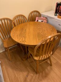 Free table and 4 chairs Langley, V3A 2E7