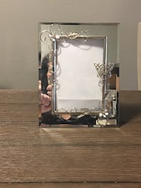 Pair of Decorated Silver Plated Photo Frames
