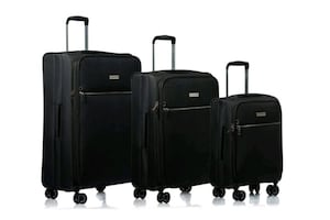 Brand New Champs 3 Piece Softside Spinner Luggage Set