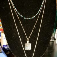 silver chain necklace with pendant Hot Springs, 71901