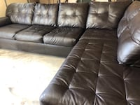 Brown Faux leather sectional Odenton