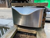 Umbra Postino  stainless steel mailbox - used