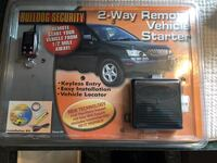 sealed package -BullDog Security 2 way Remote vehicle starter with installation kit. Manchester, 03104