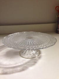 clear glass cake stand Reston, 20190