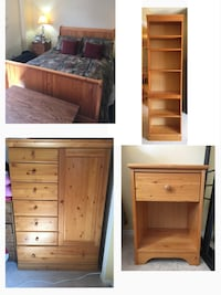 Wooden Bedroom Set Whitby, L1N 9A1