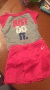 Nike shirt and skirt outfit, bran new size 12-18 m Lethbridge, T1K 1R1