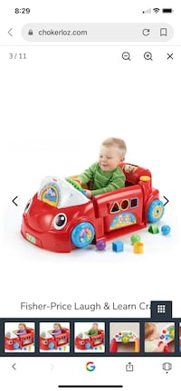 Fisher price early learning crawl car
