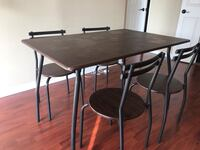 Dining table with 4 chairs Toronto, M9W 6J5