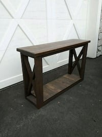square black wooden side table Langley