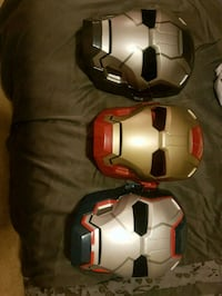 two white and red football helmets 3140 km