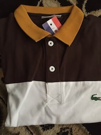 Brown and yellow polo Lacoste Toronto, M6P