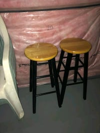 two brown wooden bar stools Brampton, L6R 0S7