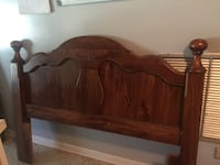 brown wooden bed headboard and footboard Citrus Springs, 34434