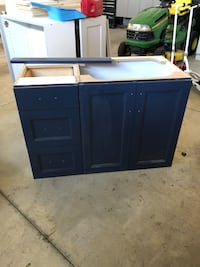 blue wooden cabinet with drawer Saratoga Springs, 84045
