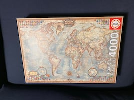 World map 4000 pieces puzzle.