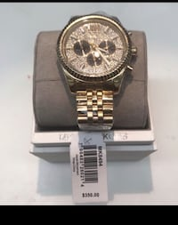 round silver chronograph watch with silver link bracelet San Antonio, 78217