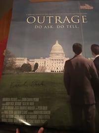 Kirby Dick signed Outrage Movie Poster Autograph On Original Movie Poster and 100% authentic see pics Fredericksburg, 22401