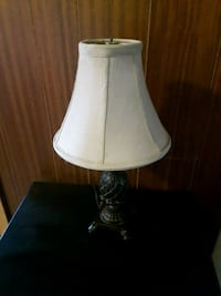 white and gray table lamp Welland