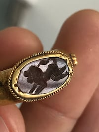 Signet ring carved stone Laval, H7E 1C1