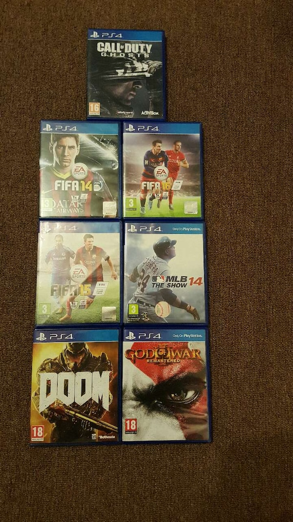 sony ps4 game lot